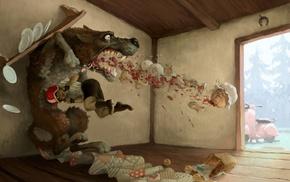 artwork, wolf, fantasy art