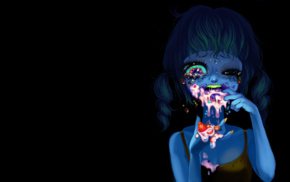 digital art, glowing, crying, drawing, colorful