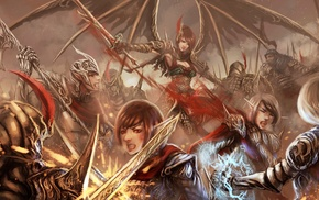 fantasy art, warrior, battle