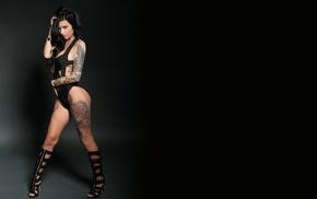 tattoo, model, black, girl