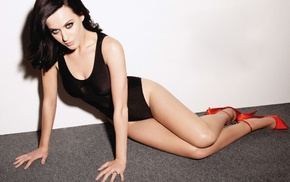 cleavage, high heels, girl, black hair, Katy Perry, celebrity