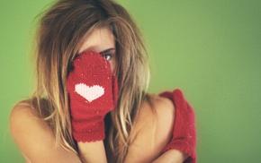 girl, gloves