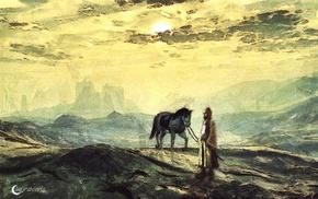 classic art, artwork, horse