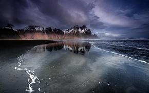 Iceland, beach, sea, nature, landscape