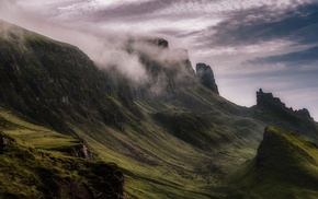 cliff, landscape, Scotland, mountains, daylight, nature