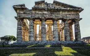 ruins, Italy, temple