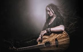 girl, Ibanez, guitar