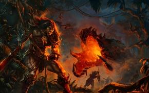 warrior, artwork, fantasy art