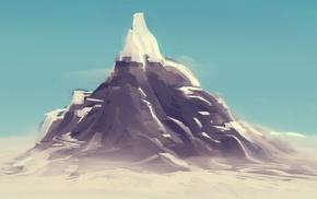 mountains, digital art