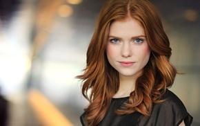 Megan West, face, redhead, girl