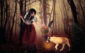 model, apples, girl, fantasy art