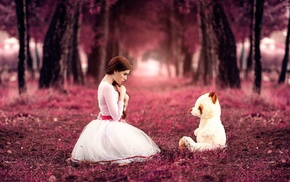 trees, model, girl outdoors, girl, teddy bears