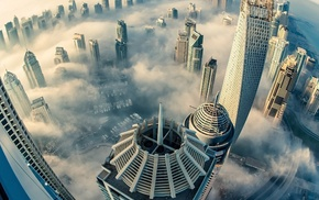 city, building, skyscraper, Dubai, heights, urban