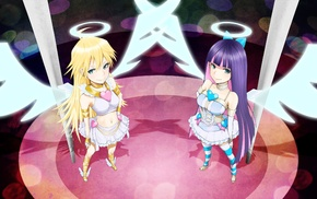angel, stockings, Anarchy Panty, anime, Anarchy Stocking, Panty and Stocking with Garterbelt