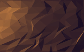 low poly, brown, geometry, minimalism, triangle, digital art