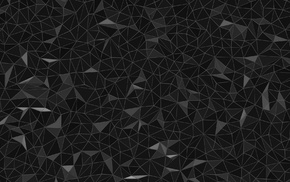 low poly, digital art, minimalism, lines, triangle, black background