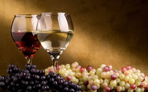 glass, grapes, food, alcohol, wine