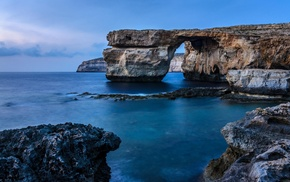 sea, rock, Malta, coast