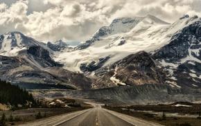 landscape, mountains, road
