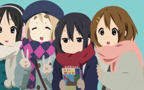 Hirasawa Yui, Kotobuki Tsumugi, Akiyama Mio, vector, Nakano Azusa, anime girls