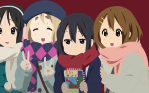 anime girls, Kotobuki Tsumugi, Nakano Azusa, Hirasawa Yui, vector, K