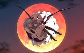 Moon, Izayoi Sakuya, Remilia Scarlet, Touhou