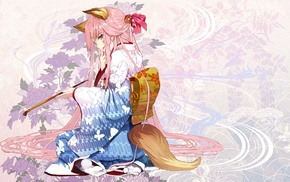 fox girl, kimono, anime girls, anime, original characters, kitsunemimi