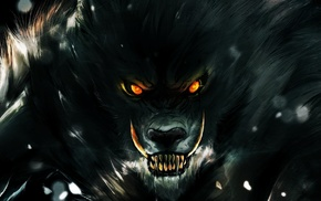 digital art, fangs, World of Warcraft, fantasy art, werewolves, Worgen