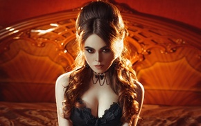 warm colors, glamour, smoky eyes, portrait, model, Ilya Novitsky