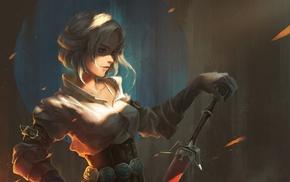 video games, Cirilla Fiona Elen Riannon, fantasy girl, artwork, The Witcher 3 Wild Hunt, The Witcher