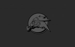 monochrome, logo, gas masks