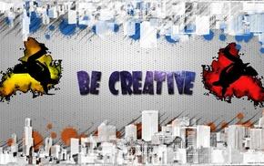 splashes, comic art, city, creativity