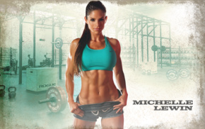 belly, abs, sports bra, Michelle Lewin, gym clothes, freckles