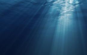 sunlight, digital art, underwater