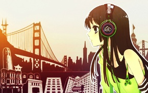 anime, headphones, anime girls