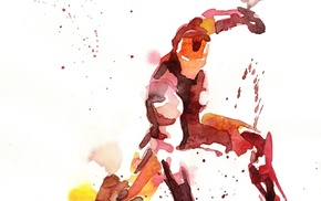 paint splatter, Marvel Heroes, Iron Man, The Avengers, Marvel Comics, watercolor