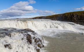 nature, Iceland, waterfall