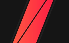 red, geometry, minimalism, vector, black