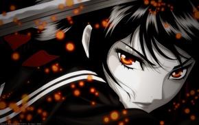 anime girls, Blood, C, Kisaragi Saya, anime