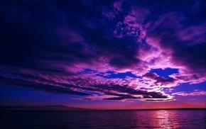 nature, horizon, landscape, clouds, water, sea