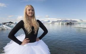 Iceland, blonde, ballerina, ballet skirt, girl