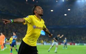 Borussia Dortmund, Bundesliga, Pierre, Emerick Aubameyang, soccer pitches, footballers