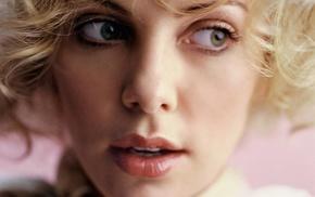 girl, Charlize Theron, actress, blonde, face, closeup