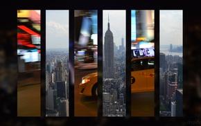 New York City, skyline, taxi
