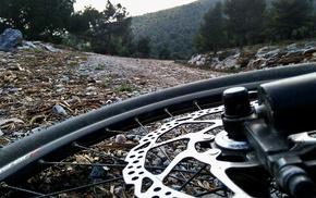 mountains, mountain bikes