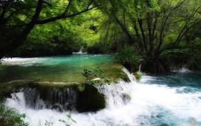 water, river, waterfall, nature, Plitvice National Park, Croatia