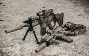 Adaptive Combat Rifle, assault rifle, military, sniper rifle, weapon, FN SCAR
