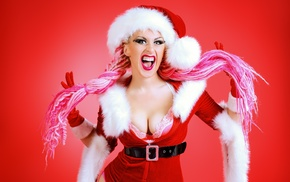 boobs, Christmas, girl, model