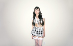 skirt, Sasha Grey, pornstar, plaid, uniform