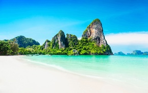 tropical, beach, landscape